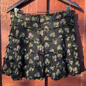 Marc Jacobs Silk Olive Skirt